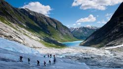 Sognefjord Nigardsbreen glacier