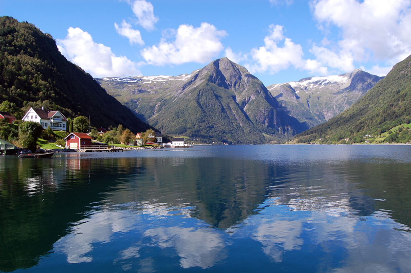 Houses by the Sognefjord