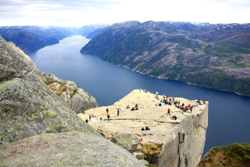 Preikestolen cliff Norway
