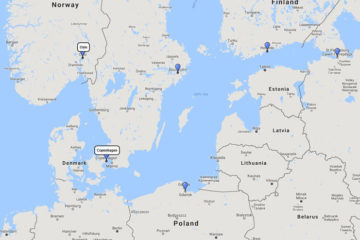 Crystal Cruises, Baltic Reflection cruise from Copenhagen, 4 Jul 2017 route