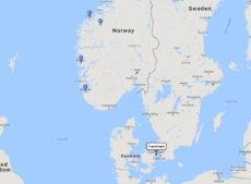 Disney Cruise Line, Norwegian Fjords Cruise from Copenhagen, 4 Jun 2017 route