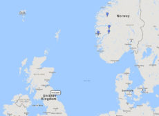 Fred.Olsen Cruise Lines, Cruising Fjordland from Newcastle, 4 Jun 2017, L1713 route