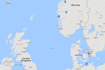 MSC Cruises, Norwegian Fjords cruise from Copenhagen, 12 Aug 2017 route