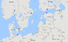 Princess Cruises, Scandinavia & Russia cruise from Copenhagen, 7 Aug 2017 route
