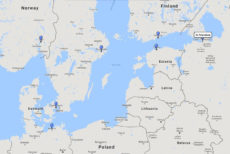 Princess Cruises, Scandinavia & Russia cruise from St. Petersburg, 25 Aug 2017 route