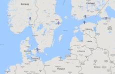 Princess Cruises, Scandinavia & Russia cruise from Warnemunde, 3 May 2017 route