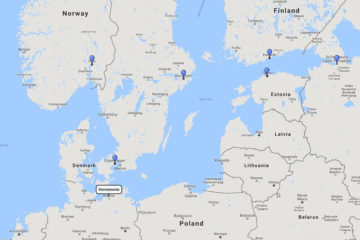 Princess Cruises, Scandinavia & Russia cruise from Warnemunde, 8 Jul 2017 route