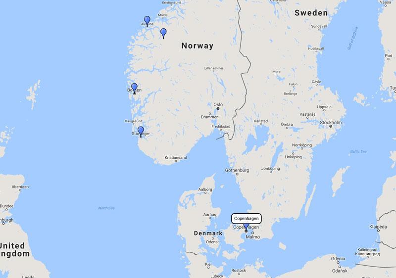 Royal Caribbean Norwegian Fjords Cruise From Copenhagen 19 Aug 2017