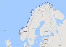 The Classic Hurtigruten Roundtrip Voyage from Bergen, 10 Feb 2017 route