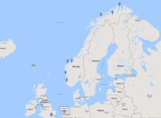 Cruise & Maritime Voyages, Northern Lights Cruise from Amsterdam, 13 Mar 2017, R7A1 route