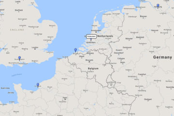 AIDA Cruises, Northern Europe Cruise from Rotterdam, 21 Sep 2017 route