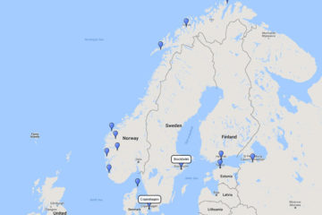 Seabourn, Russia & Scandinavia cruise from Stockholm, 17 June 2017 route