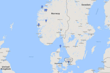 Silversea Cruises, Northern Europe cruise from Copenhagen, 14 Jul 2017 route