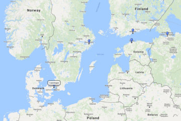 Disney Cruises, Scandinavia and Baltic from Copenhagen 7d route
