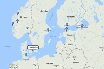 MSC Cruises, Baltic, Scandinavia and Norway from Copenhagen 14d route