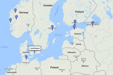MSC Cruises, Baltic, Scandinavia and Norway from Copenhagen 14d route 2