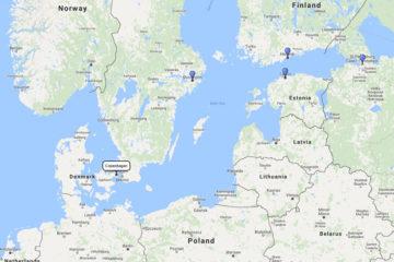 Royal Caribbean, Scandinavia & Russia cruise from Copenhagen 7d route