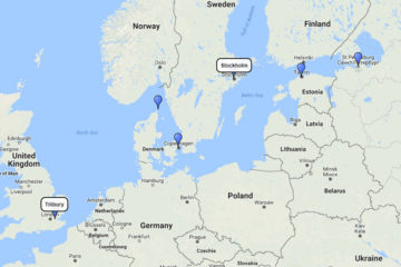 Silversea Cruises, Baltic & Scandinavia cruise from Stockholm 10d route