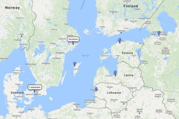 Silversea Cruises, Baltic & Scandinavia cruise from Stockholm 10d route 2