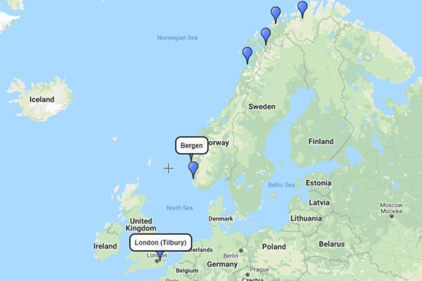 13-day In Search of the Northern Lights Bergen-Tilbury with Viking Cruises