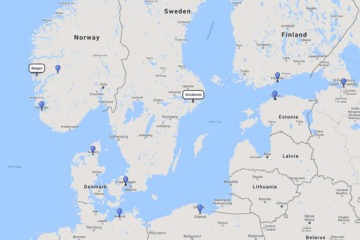 Viking Cruises, Scandinavia, Baltic & Norwegian Fjords cruise from Stockholm 15d route