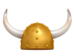 Vikings horned helmets